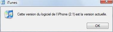 Firmware 2.1 pour iPhone au téléchargement