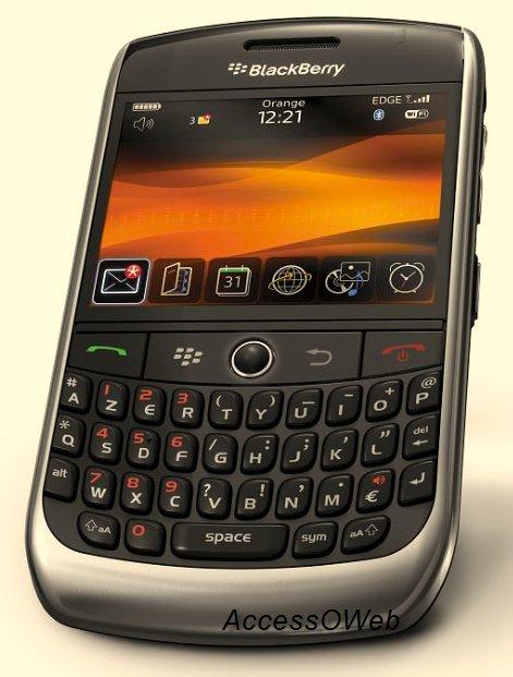 Le Blackberry Curve 8900 chez Orange aujourd'hui