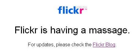 Flickr est down ( pour le moment )