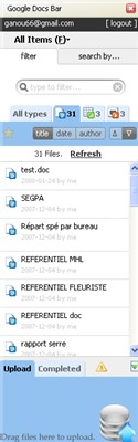 gDocsBar - tout le contenu de votre Google Document dans la sidebar de Firefox