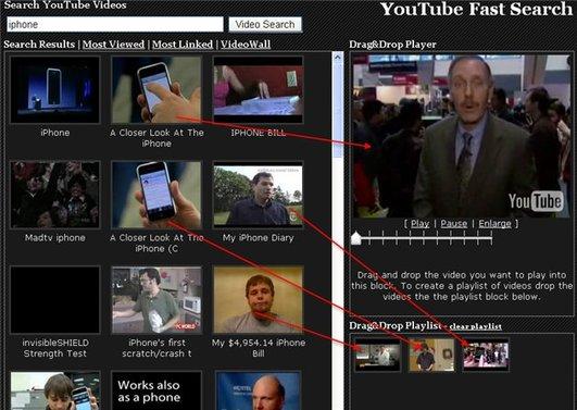 Youtube Fast Search - Recherchez, visionnez et créez des playlist avec Youtube