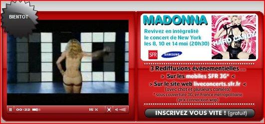 [info] Showcase privé de Madonna sur le Web et le CD Hard Candy édition limitée à gagner sur AccessOWeb