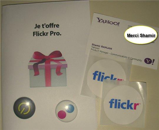 Flickr dans ma boite aux lettres :)