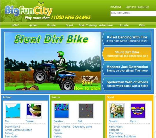 Big Fun City - 11 000 jeux en Flash pour les longs Week end