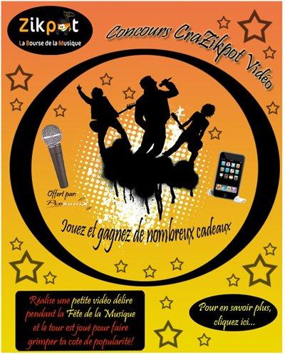 Pour la fête de la musique Zikpot vous offre un iPod Touch