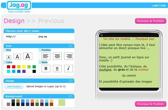 Jag.ag - un journal sur mobile en 3 mn
