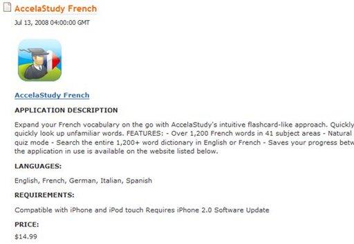 Un feed RSS pour suivre l'arrivée des applications iPhone sur l'App Store