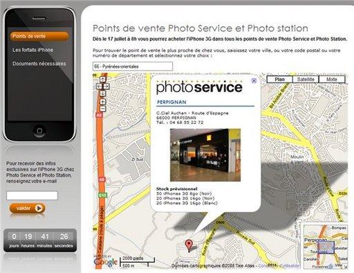 Photo Service annonce les stocks prévisionnels d'iPhone 3G pour le 17 juillet