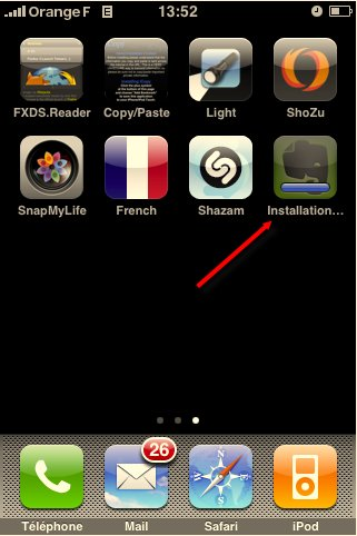 Mise à jour d'application en direct de l'iPhone avec le Firmware 2.0