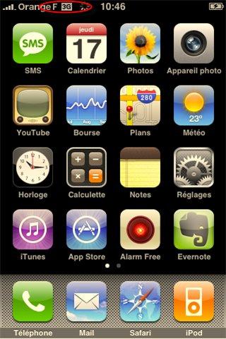 iPhone 3G synchronisé - tout marche