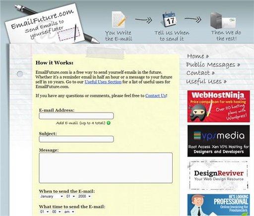 EmailFuture - Programmez un envoi de mail dans le futur