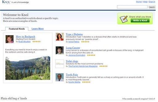 Knol - Google lance son encyclopédie de type Wikipédia