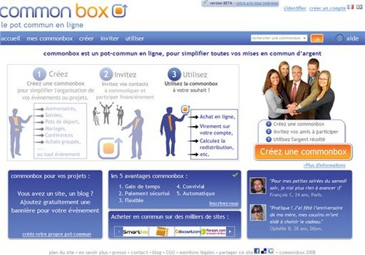 Commonbox - le pot commun en ligne