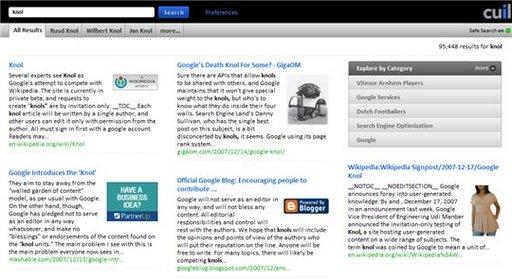 Cuil - le moteur de recherche qui veut concurrencer Google