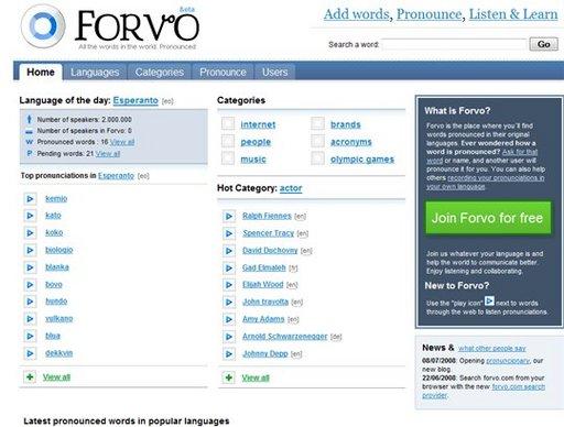 [Pratique] Forvo - Apprenez à bien prononcer les mots en langues etrangères