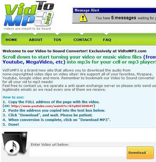 VidToMP3 - Convertion d'une vidéo Youtube en MP3