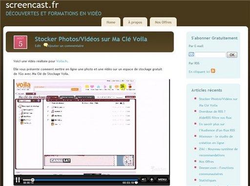 Screencast.fr - Le site dédié à la découverte et formation en vidéo