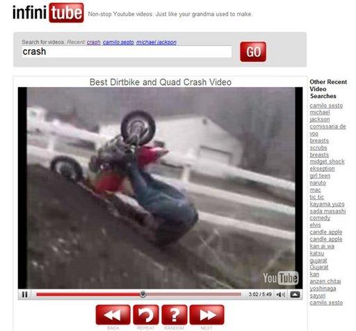 Infinitube - Des vidéos Youtube qui s'enchainent