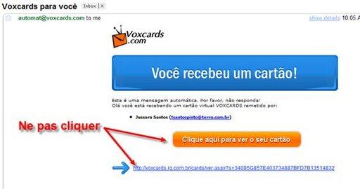 [Alerte Spam] Ne cliquez pas sur tous les liens reçus par mail