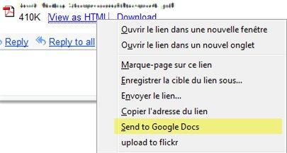 Une extension Firefox pour ouvrir les documents sur Google Documents