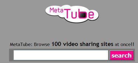 MetaTube - recherche de videos sur 100 moteurs