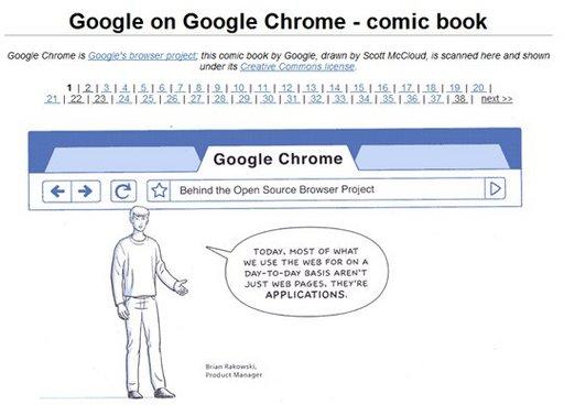 Google Chrome - la BD complète en 38 pages