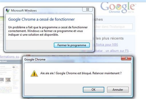 Qui a dit que Google Chrome ne plantait pas ?