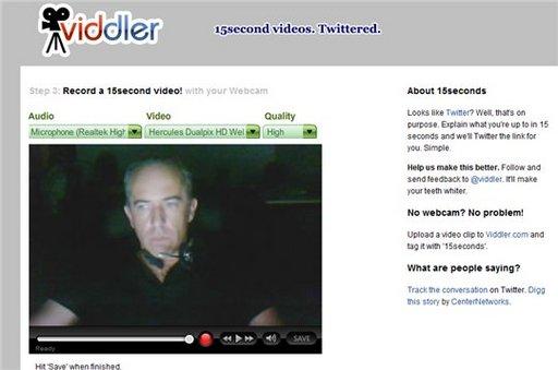Après Seesmic et 12seconds, voici Viddler et le video blogging en 15 secondes