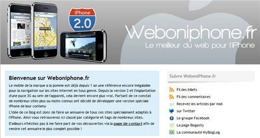 [coup de pouce] Web On iPhone - Le meilleur du Web pour l'iPhone