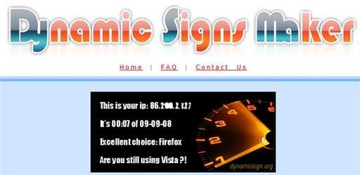 Dynamic Sign Maker - un widget dynamique d'affichage de renseignements sur vos visiteurs
