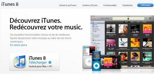 iTunes 8 est en ligne sur Apple.fr