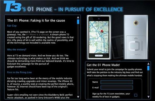 The 01 Phone - fin du Teasing