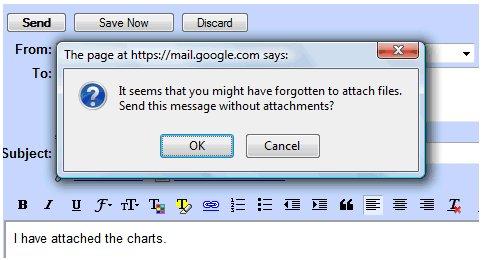 Google met en place un détecteur de fichier joint sur Gmail