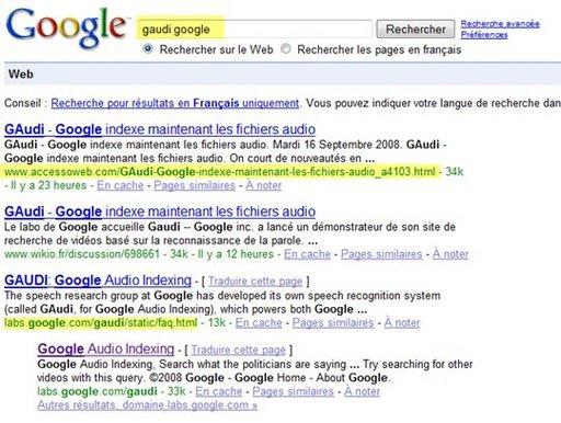 AccessOWeb mieux référencé que Google lui même ....sur Google :)
