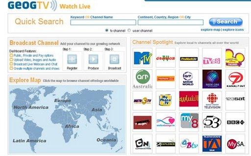 GeogTV - plus de 6200 chaines de TV du Web dans plus de 180 pays