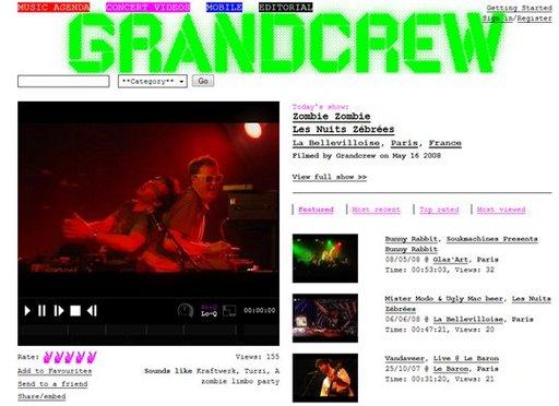 GrandCrew - diffusion de concert intégral en vidéo gratuit ( lancement dans une semaine )