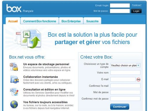 Box.net passe en version française