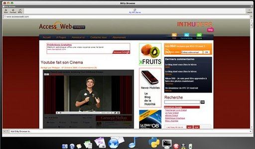 WebX Online Operating System - un bureau MAC virtuel