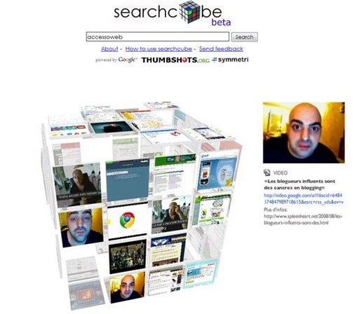 Searchcube - bienvenue dans la recherche en 3 dimensions