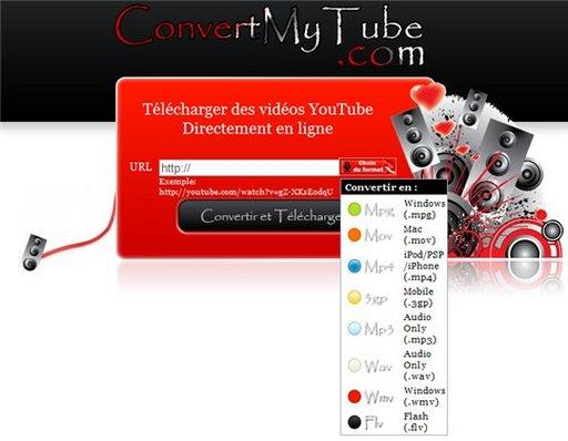 ConvertMyTube - Télécharger des vidéos Youtube ( en français )