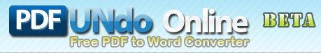 PDF Undo - convertir un PDF en format Word en ligne