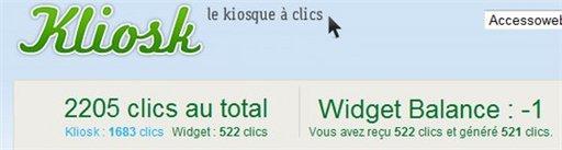 Kliosk - Petit bilan après 2 mois de Widget