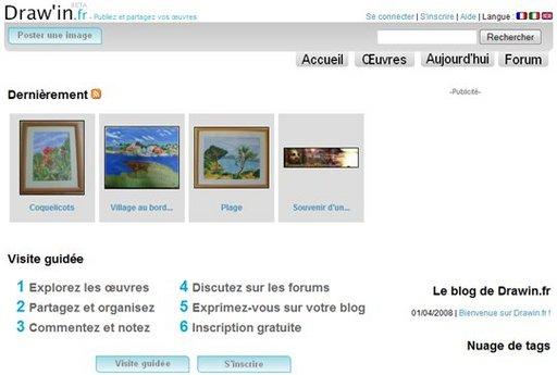 Drawin.fr - Publiez et partagez vos oeuvres graphiques