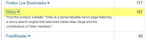 Wikio a été ajouté à Feedburner comme lecteur RSS