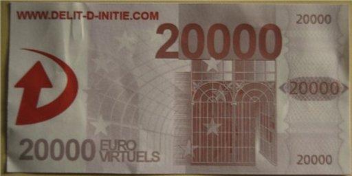 Délit d'initié nous offre 20 000 Euros ... virtuels