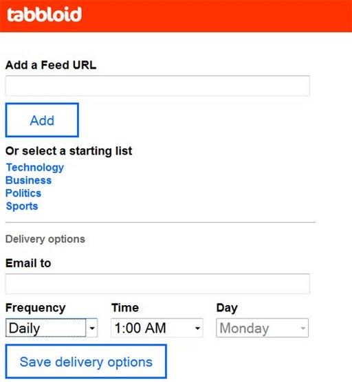 Tabbloid - Recevez par mail vos flux RSS favoris sous forme de journal PDF
