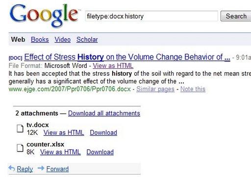 Les documents Office 2007 peuvent maintenant être visualisés dans Google