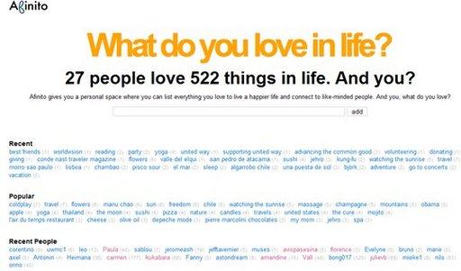 Afinito - Qu'est ce vous aimez dans la vie ?