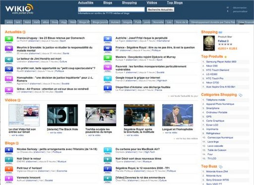 Wikio redonne de la visibilité aux blogs sur sa Home Page