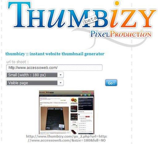 Thumbizi - générateur de thumbnails
